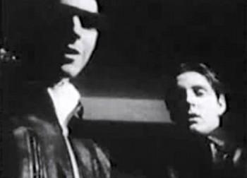 """Кадр из короткометражного фильма """"Вторжение/Intrusion"""". Одна из первых самостоятельных работ Ривза. Лента предположительно снята в 1961 году."""